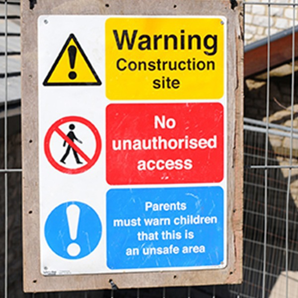 Construction Combined Signs